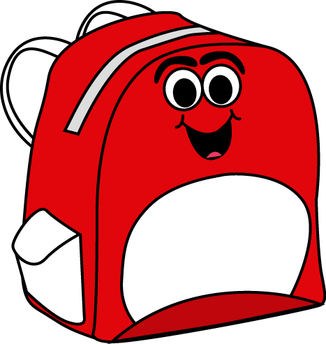 png free Bookbag clipart empty backpack. School supplies clip art.