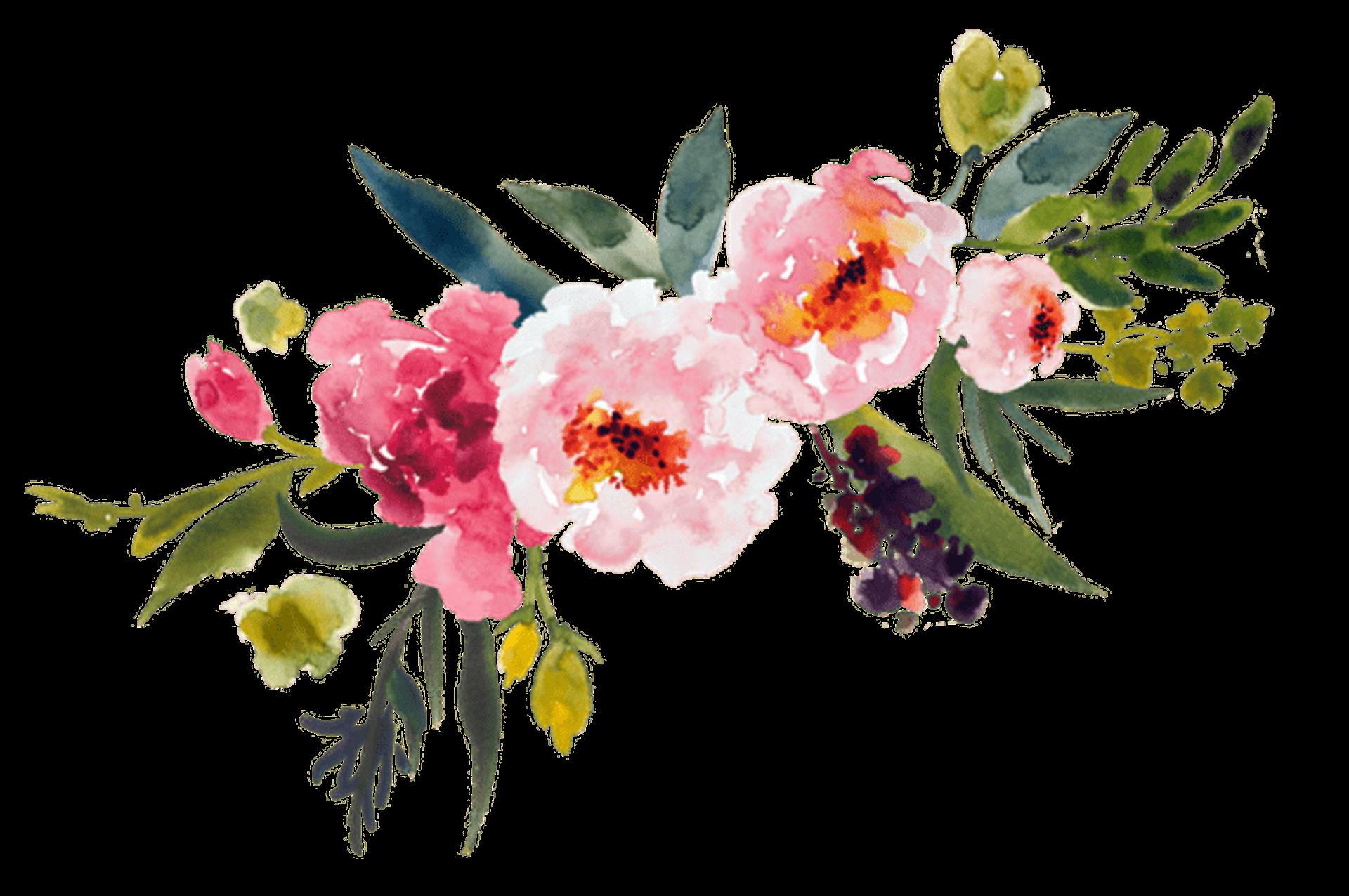 vector freeuse stock Painting flower bouquet clip. Art clipart watercolor paint.