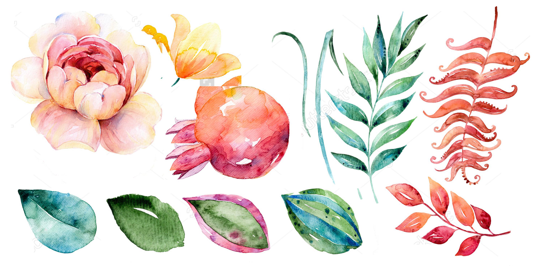 image free download Art clipart watercolor paint. Flower painting leaf clip.