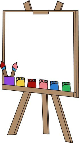 vector black and white Art easel clipart. Pin by leanne on