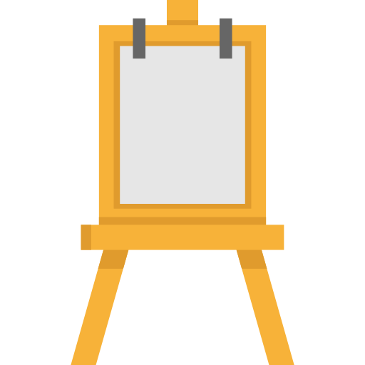 banner stock Tools tool paint painting. Art easel clipart
