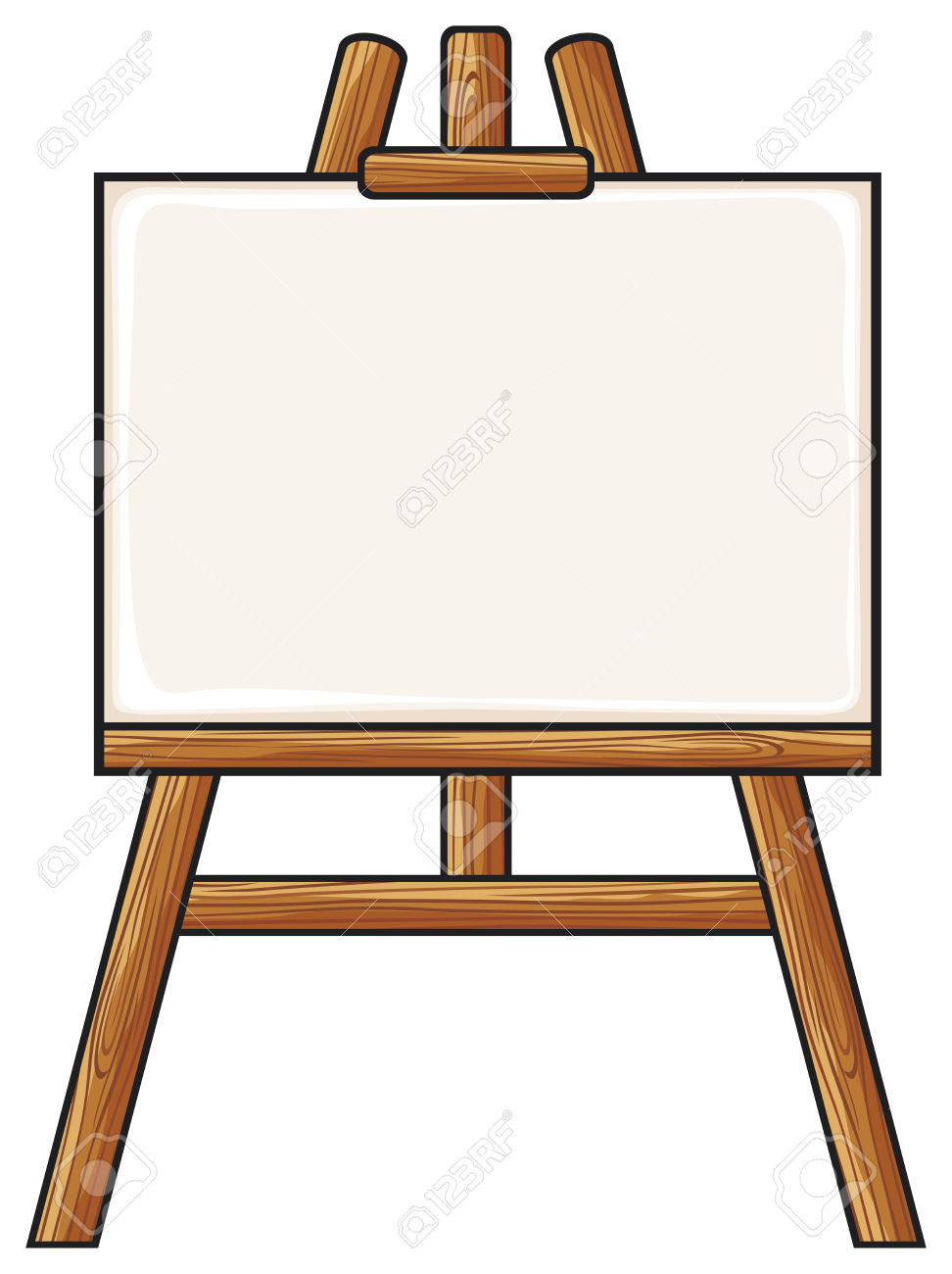picture black and white stock  clipartlook. Art easel clipart