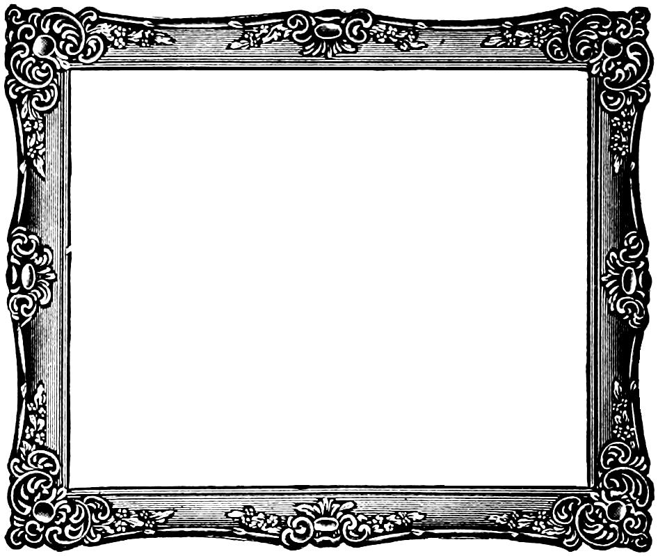 svg royalty free download Art frame clipart. Free vintage clip image