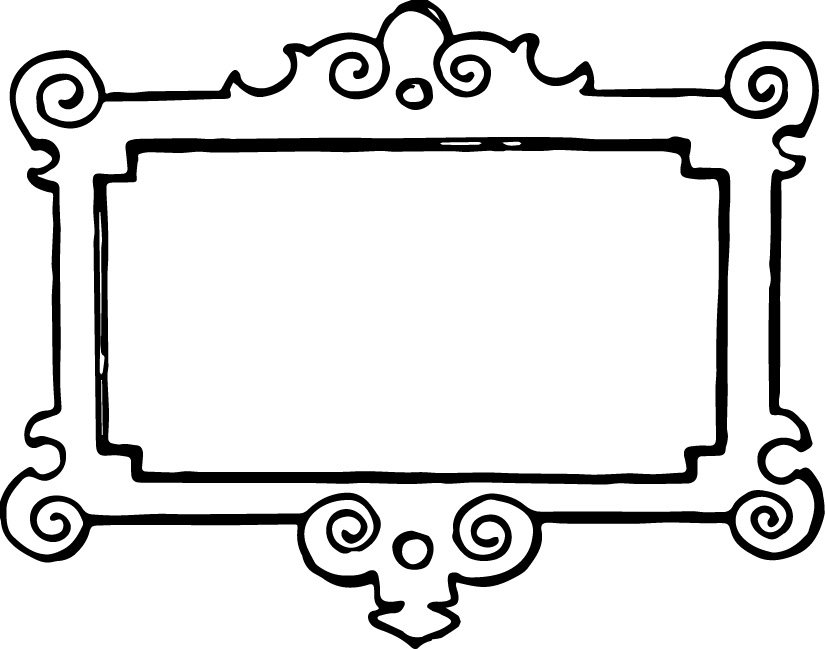 picture library library Art frame clipart. Yellow clip panda free