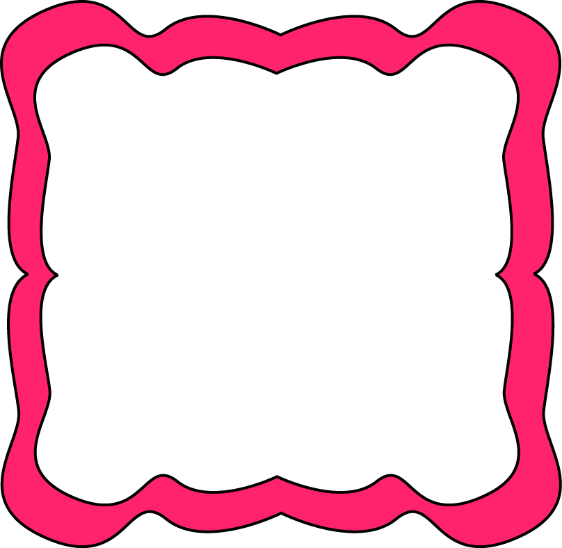 image free Art frame clipart. Pink curvy free clip