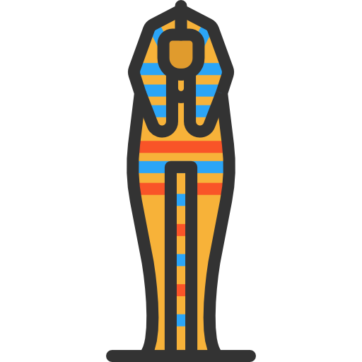 freeuse Burial sarcophagus and design. Art museum clipart.