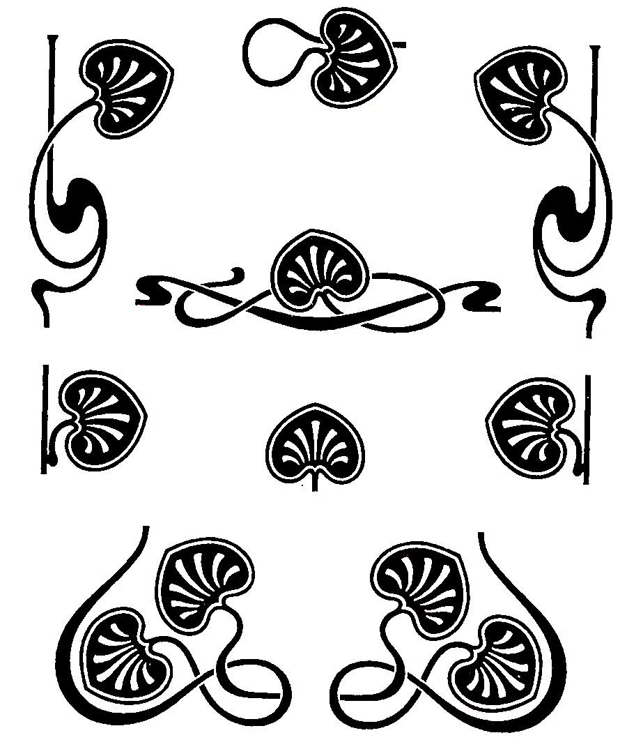 vector freeuse Free download clip . Art nouveau clipart