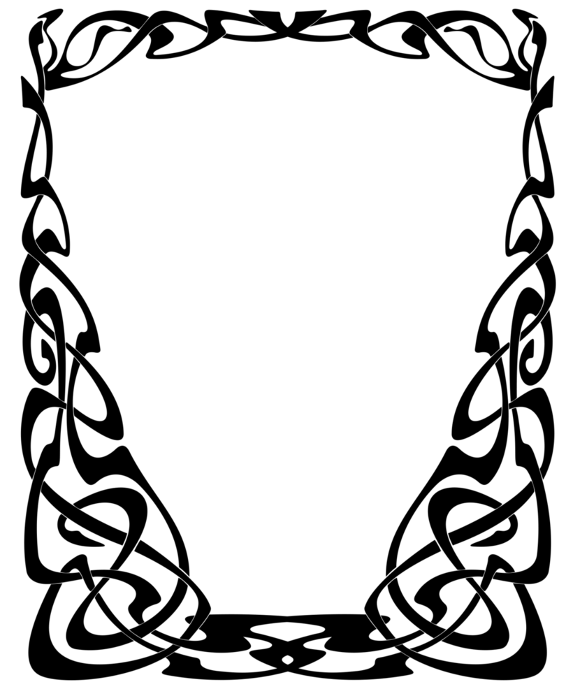 clip free stock Art nouveau clipart. Frame by lyotta on