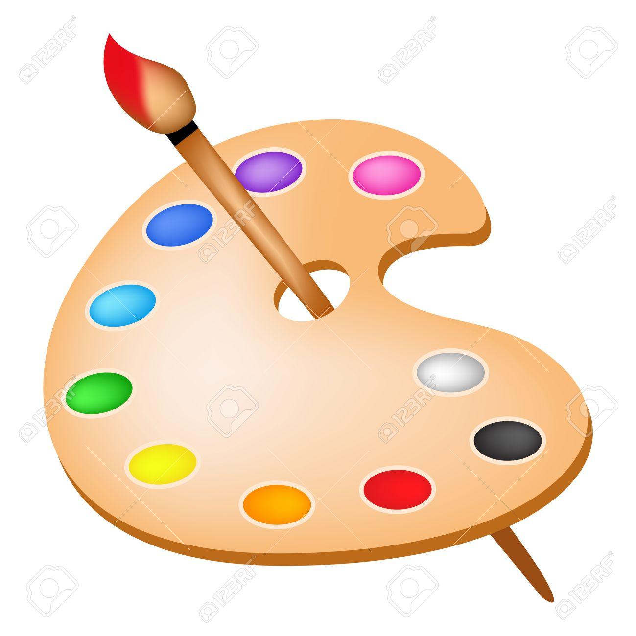 clip art transparent Art palette clipart. Artists color with colors.