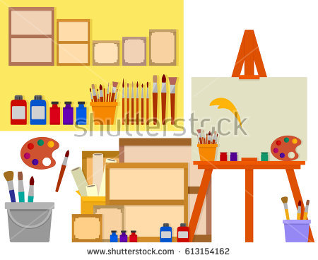 clip royalty free library . Art room clipart.