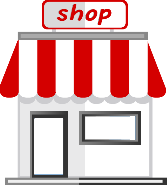 banner stock Art shop clipart. Store front clip at.