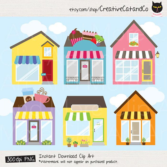 clip art royalty free library Art shop clipart. Store building logo cafe.