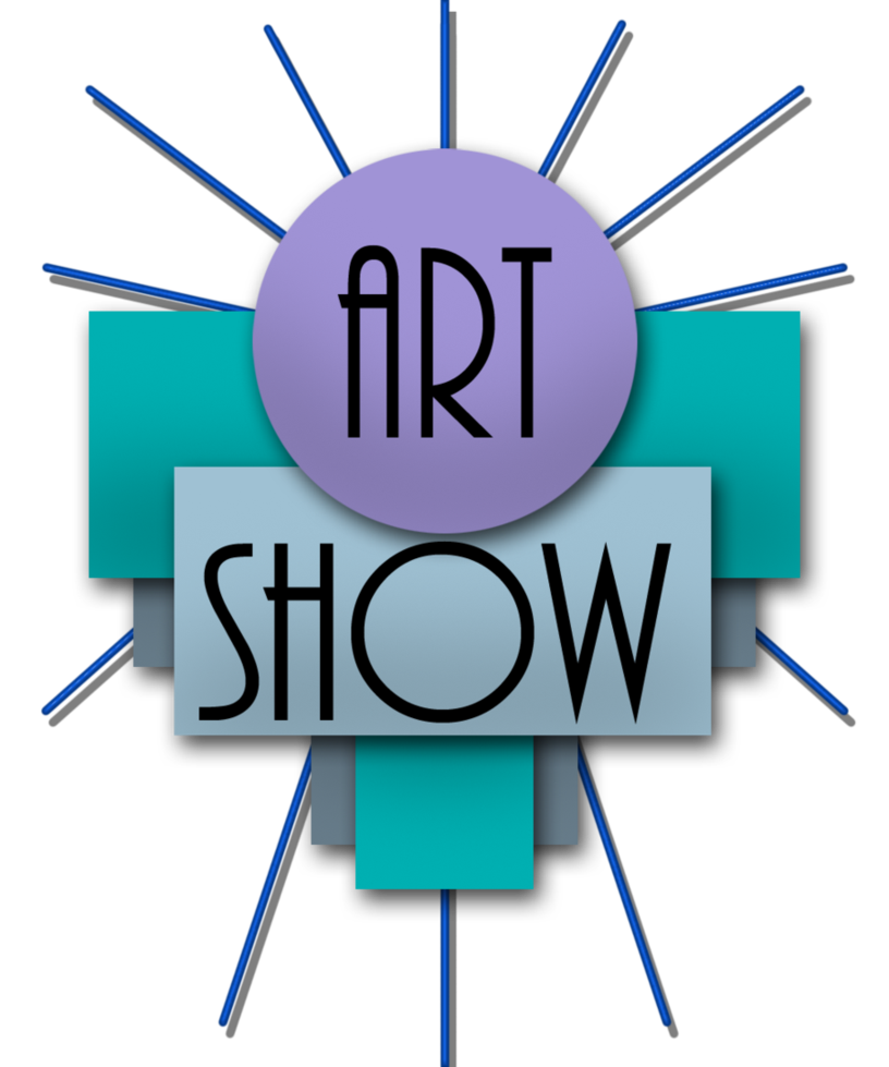black and white stock Current classes contests lectures. Art show clipart.