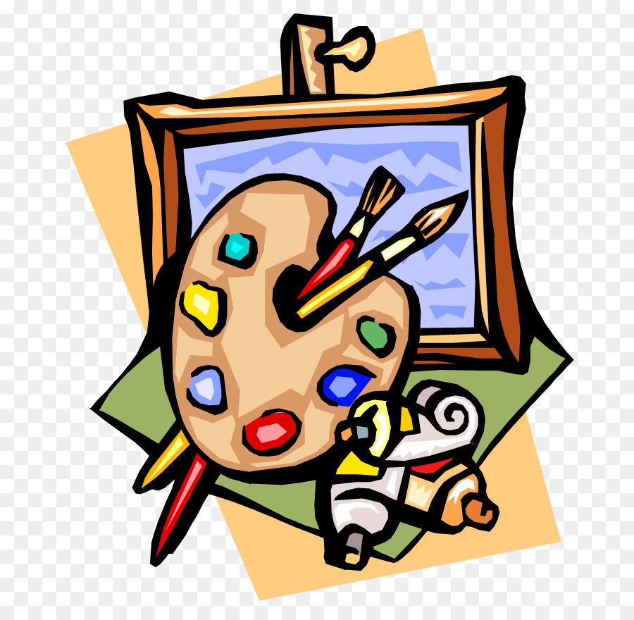 jpg royalty free download Painting cartoon illustration . Art show clipart.