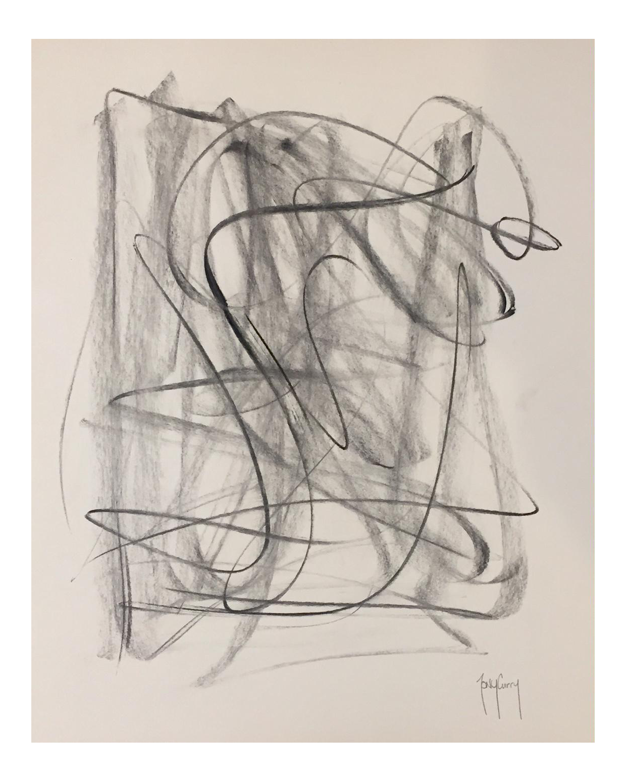 graphic transparent stock Original Modern Charcoal Drawing by Tony Curry