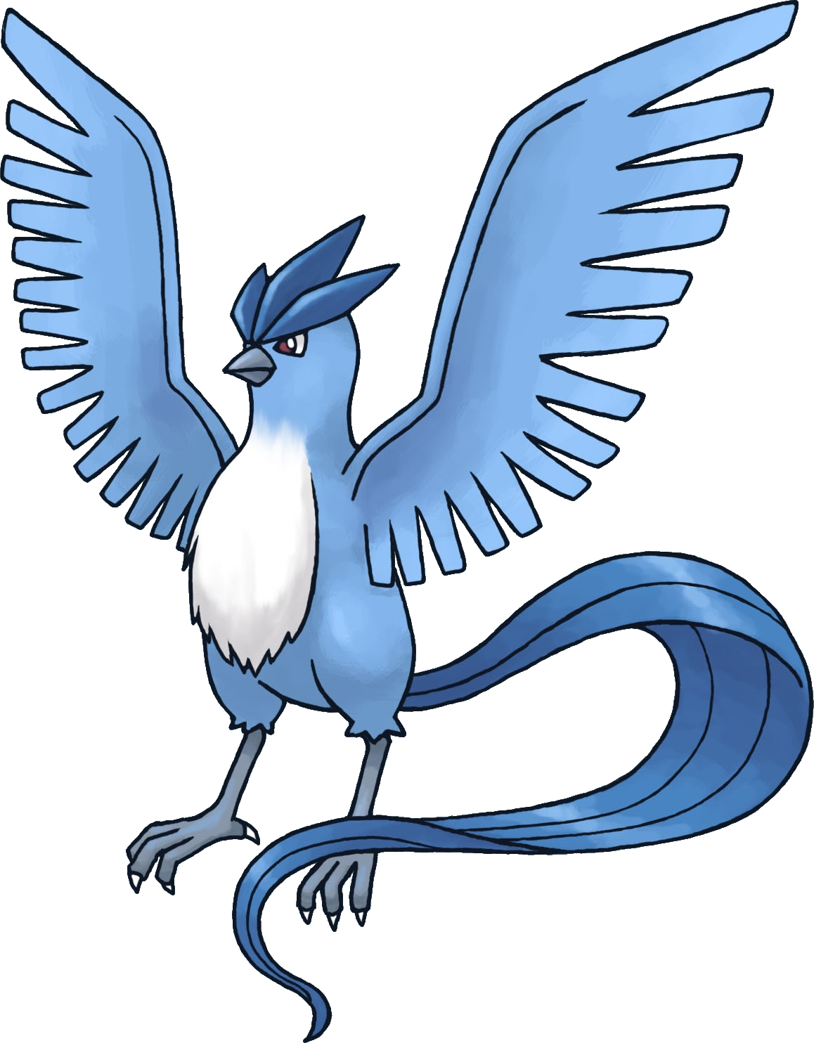 freeuse stock Pokemon pokedex from kanto. Articuno drawing