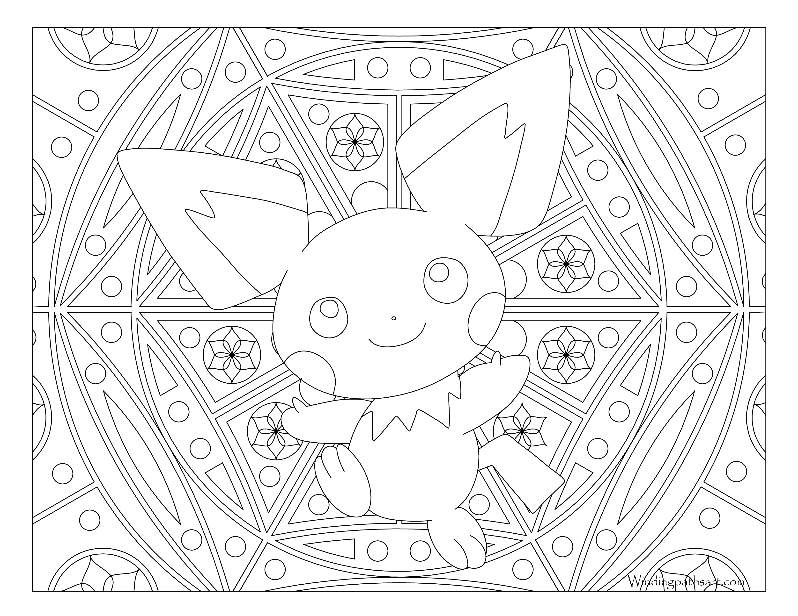 clip free download Pichu drawing black and white. Relaxation archives page of