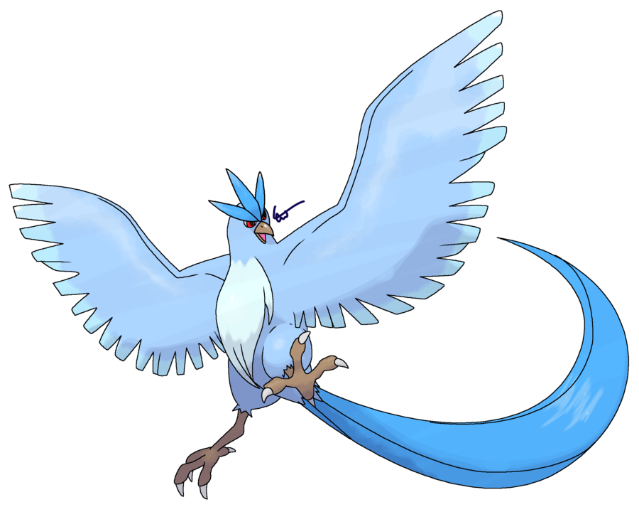 clip transparent Shiny revamped by cherubimonx. Articuno drawing easy