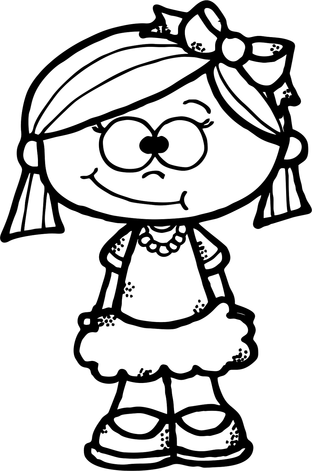 picture black and white Worksheetjunkie cute freebie dibujos. Grades clipart hard working girl student