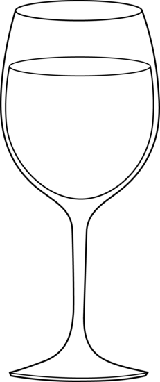clip royalty free stock Goblet drawing fancy. Gallery wine glasses clip