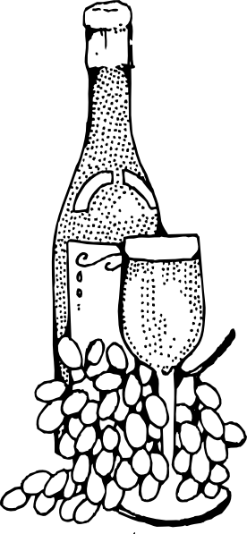 picture royalty free library Wine bottle and glass. Goblet drawing fancy
