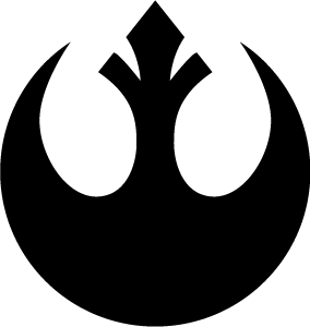 clipart black and white library Vector emblem insignia. Star wars rebel alliance