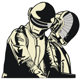 svg black and white Daft Punk