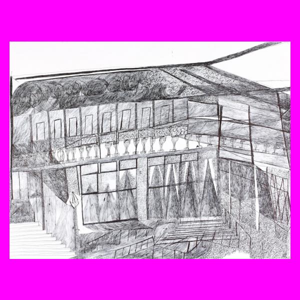 vector free download Autism drawing city landscape. Didier amblard france artiste