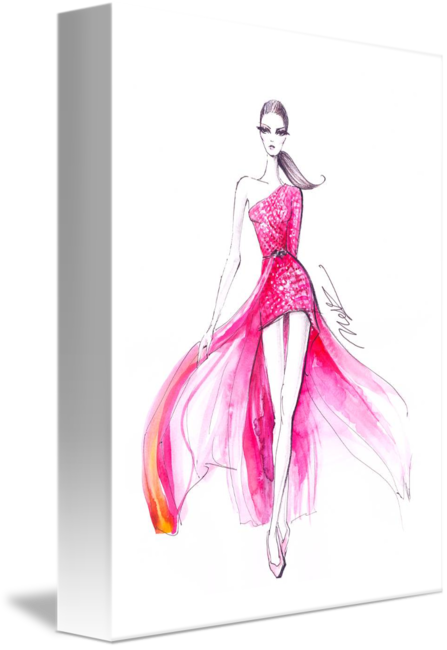 svg royalty free Pink couture dress