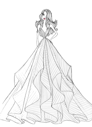 graphic stock Collection of free Dresses drawing line