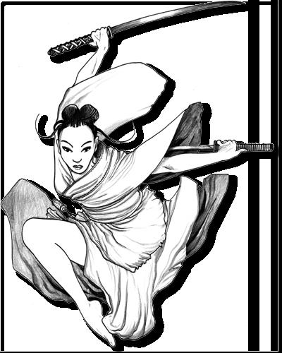 graphic free stock Female Samurai Drawing at GetDrawings