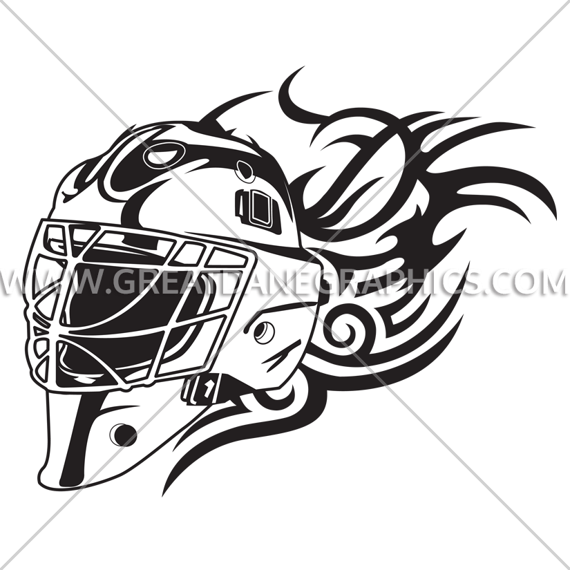 graphic freeuse library Goalie Mask Drawing at GetDrawings