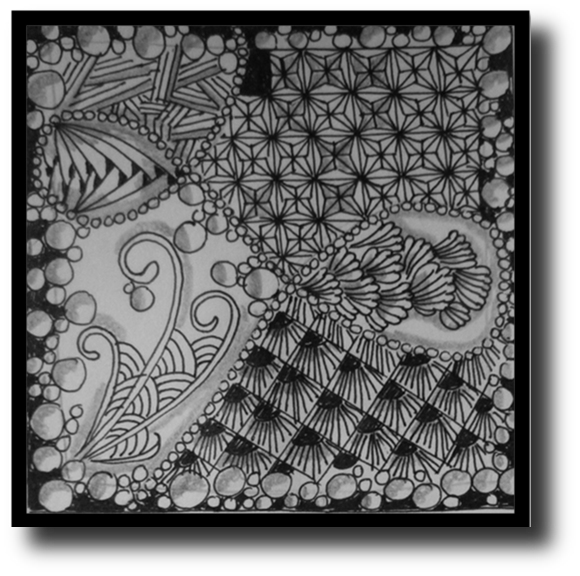 transparent library Zentangle Challenge