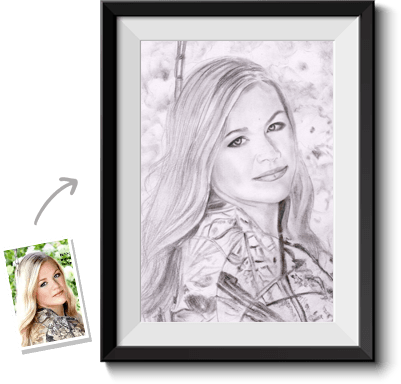 image Hire artist to draw. Drawing portrait sketch