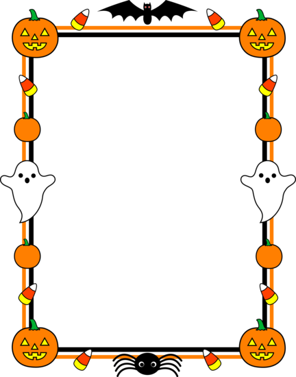 picture transparent download Halloween clipart black and white borders. Clip art cute border