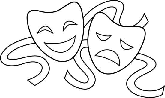 clipart royalty free download Clip drama masks theater. Arts clipart theatre art.