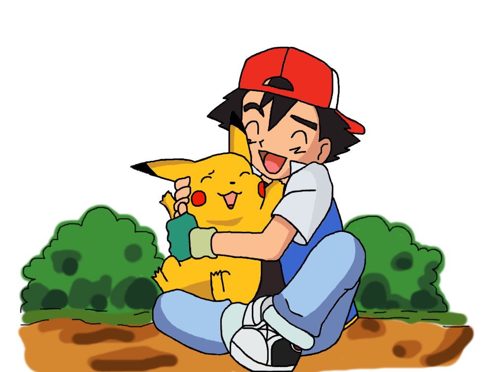 clipart black and white download Ash and Pikachu by Yodapee on DeviantArt