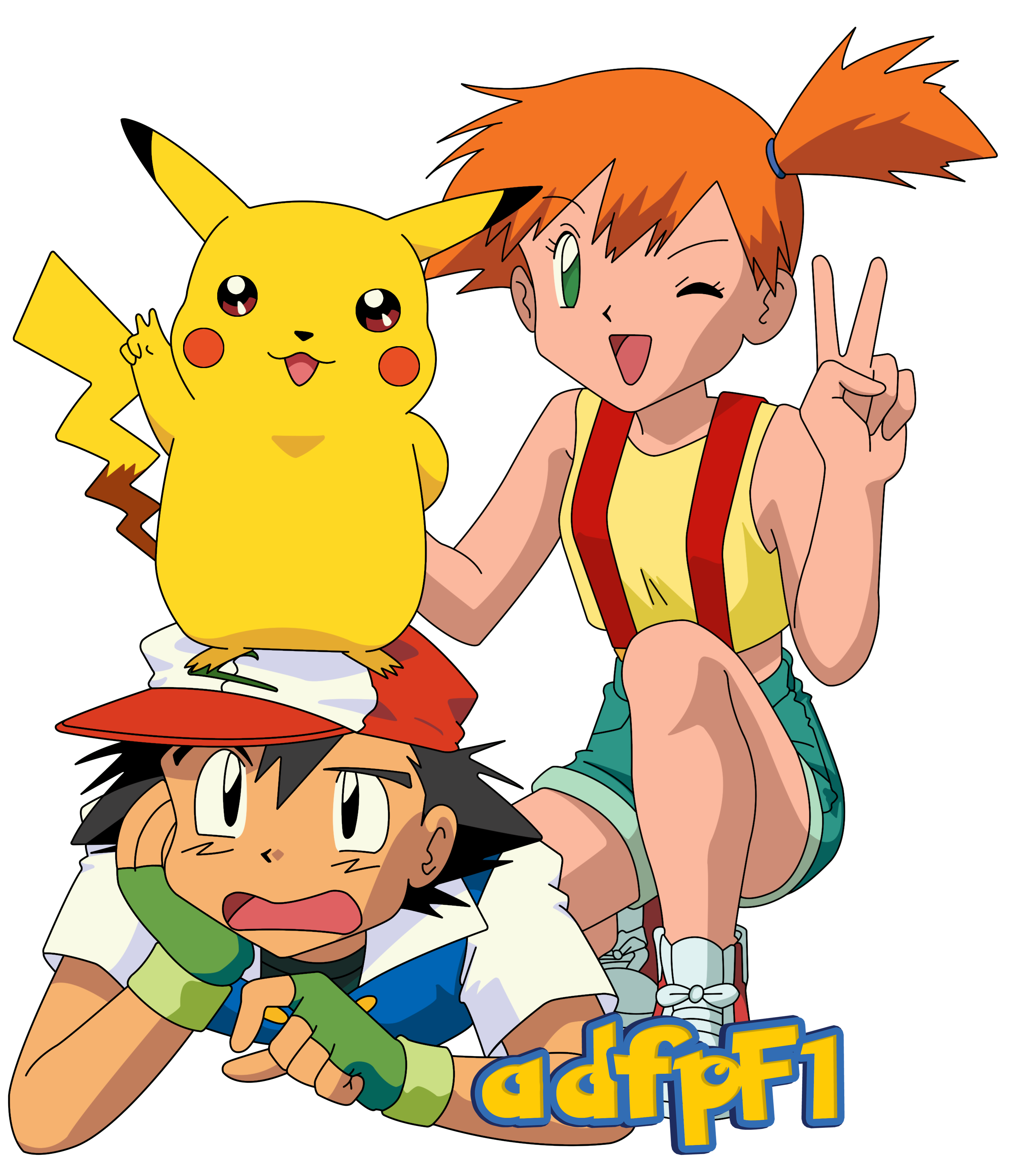 picture free download ash drawing misty #109610948