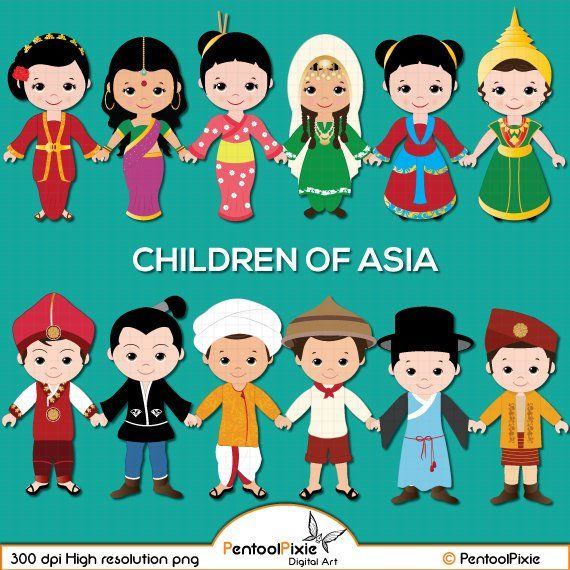 graphic free library Children of asia kids. Asian clipart.