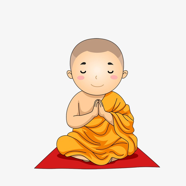 clipart freeuse download Transparent free for download. Asian clipart monk