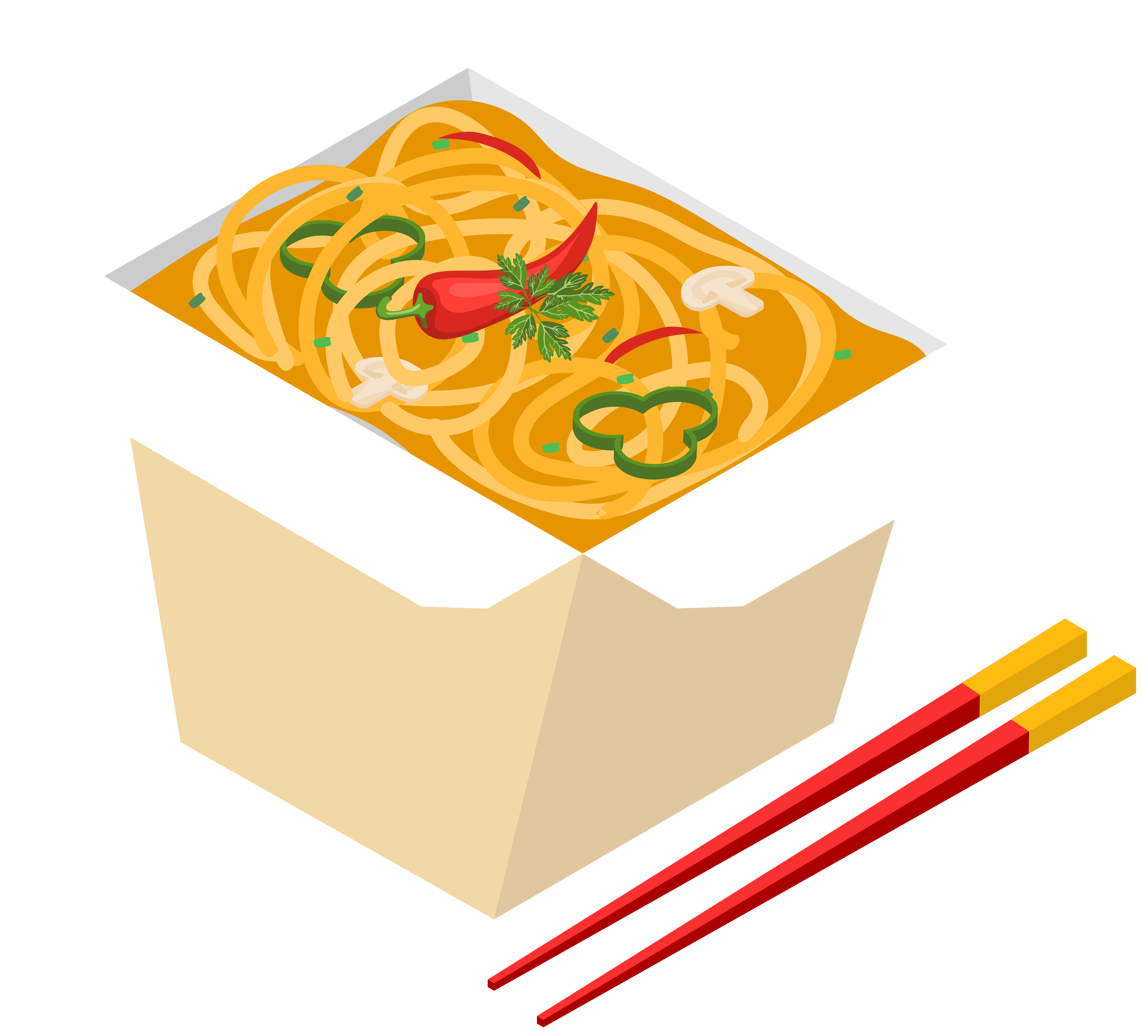 banner black and white library Asian Fast Food PNG Clip Art
