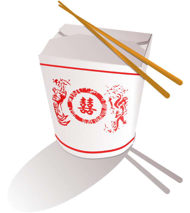 png black and white stock Chopsticks clipart cartoon. Asian food chinese take.