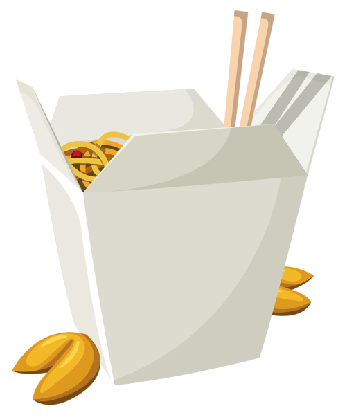 svg royalty free Chinese Food in Box PNG Vector Clipart