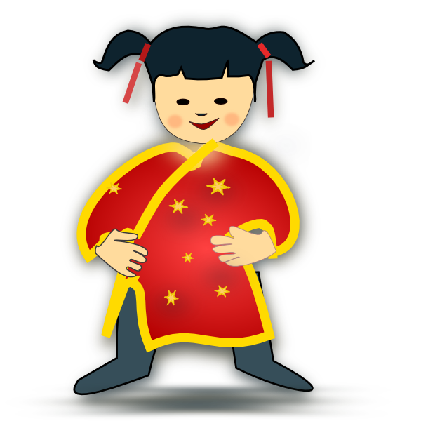 clip art free download Chinese Girl Clip Art at Clker