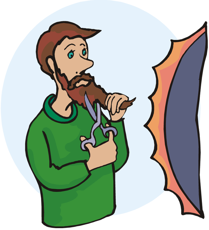 svg Beard clipart style. Reflecting on reflection with