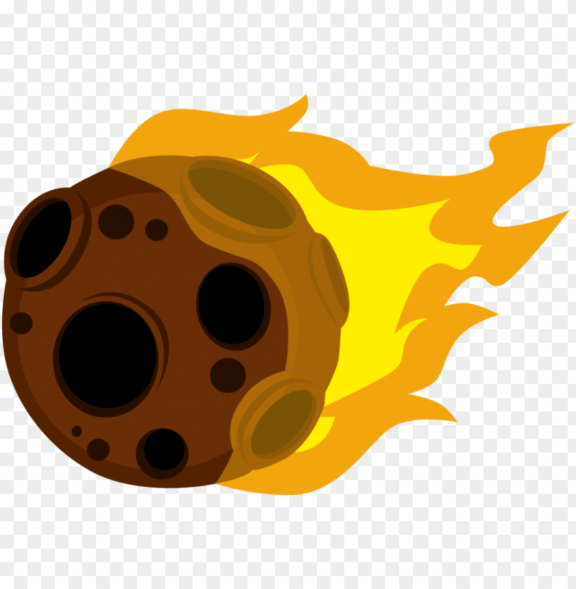 clip Meteor png image with. Asteroid clipart