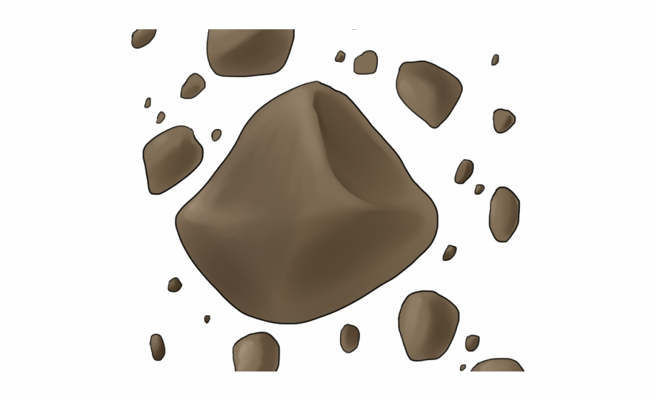 graphic freeuse download Asteroid clipart. Brown asteroids clip art