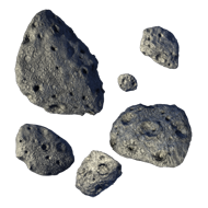 clip black and white stock Asteroid Belt