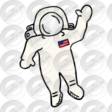 svg black and white library Picture for classroom therapy. Astronaut clipart