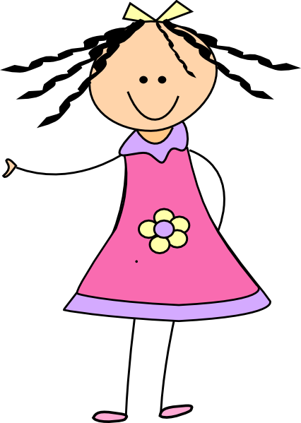 clip freeuse download Girl small free on. Little clipart gir.